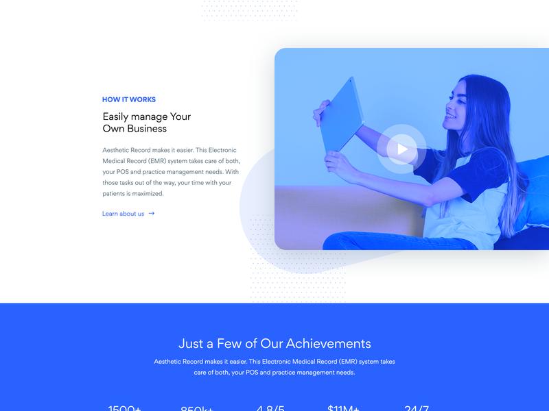 Aestheticrecord mobile ui landingpage webdesign web design illustration ux web ui
