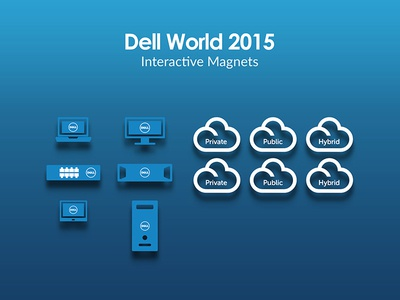 Dell World 2015 Interactive Magnets