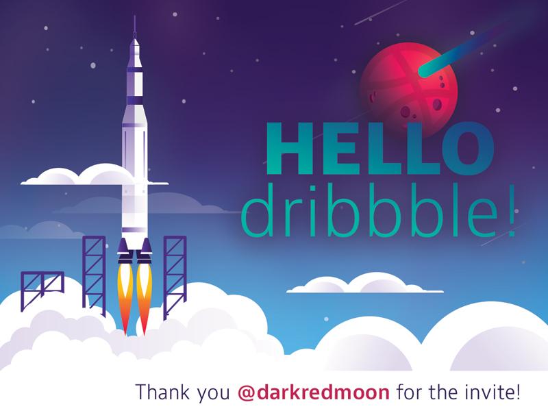 First Time Dribbble, Long-Time Dribbble Lurker flat illustration debut shot