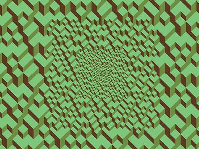 Dig square design illustration vector green digital