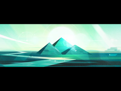 TED 2018 Opener: THE AGE OF AMAZEMENT landscape animation motion space environment design illustration tedtalks ted styleframe