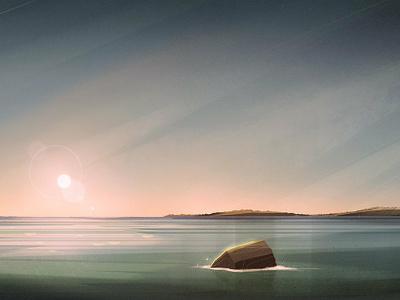 La Mer design environment background landscape illustration
