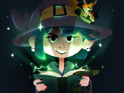 Camp W animation character cute design illustration