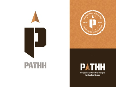 PATHH Identity logo identity path road healing heroes compass heal wounded warriors