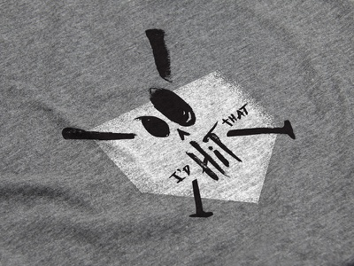 Softball Season homerun skull bat softball baseball homeplate home silkscreen tshirt