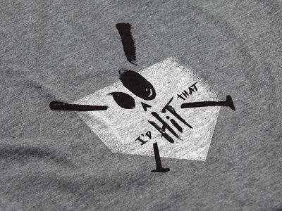 Softball Season homerun skull bat softball baseball homeplate home silkscreen tshirt
