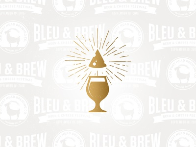Bleu & Brew Fest brew glass pattern stamp wedge festival fest brewery chalice cheese beer