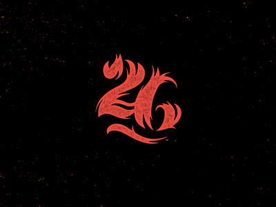 26 texture rough script custom heat flame fire number type typography