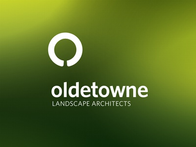 Oldetowne Landscape Architects architect landscape circle green tree typography identity logo