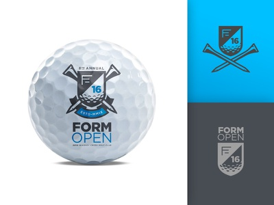 FORM Open 2016 shield tournament banner badge crest tee ball identity logo golf
