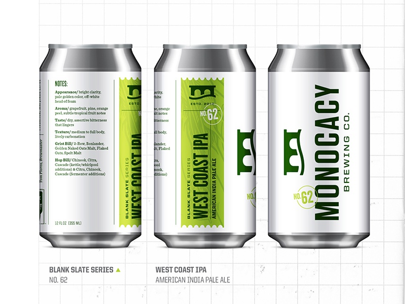Blank Slate Series Cans crest green design logo identity packaging branding can label seal stamp brewery bottle brewing beer