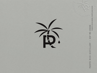 Puerto Rico Distillery Identity stamp illustration palm tree drop spirit distillery pitorro rum puerto rico cane palm branding design identity label logo