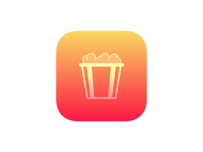 Cinema Time and Television Time bundle icon tv cinema ios bundle gradient popcorn icon app