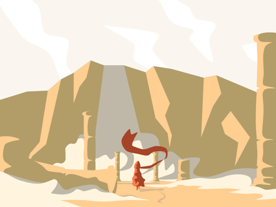 Sandfall antic explore adventure journey desert illustration vector sand