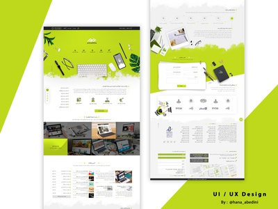 Ui / Ux Design for a website-design company branding startup web flat website design ui ux
