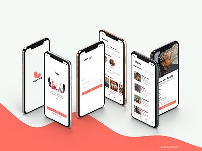 Morewa App app branding ux design ui