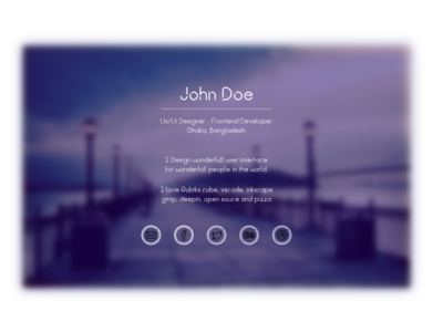 Srya - One Page Personal Website