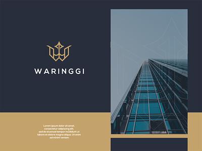 WARINGGI luxury ui illustration design icon mark logos clean modern simple logo