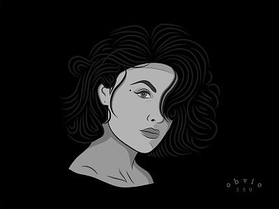 Audrey Horne (Sherilyn Fenn) character movie illustration portret twin peaks