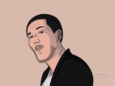 Skriptonit sketch drawing fanart illustration music musician vector portrait
