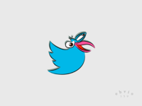 John Dilworth's Dirdy Birdy as Twitter logo