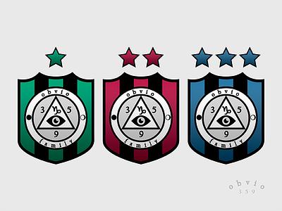 obvio's family icon coat of arms status label logotype logo design