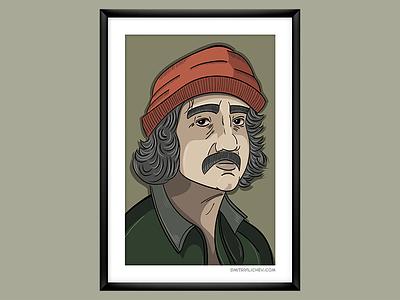 """Up in smoke"", Cheech illustration illustrator up in smoke movie vector portrait"