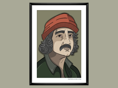 """Up in smoke"", Cheech illustration illustrator up in smoke movie vector portrait"