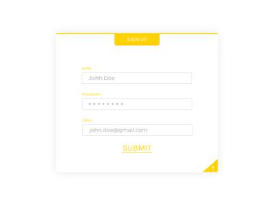 Sign Up - DailyUI Challenge 001