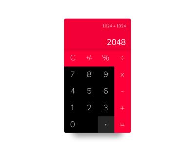 Calculator - DailyUI challenge 004