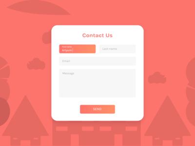 Contact Us - DailyUI challenge 028