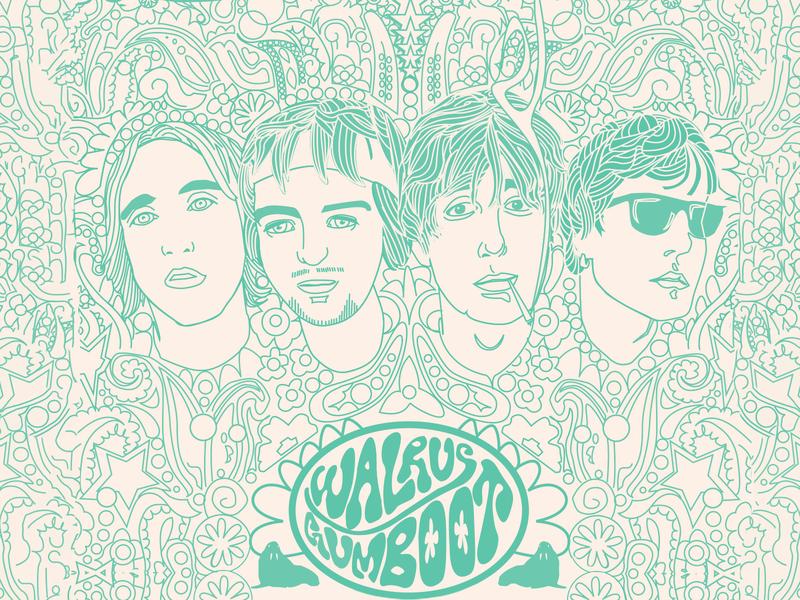 Walrus Gumboot band artwork