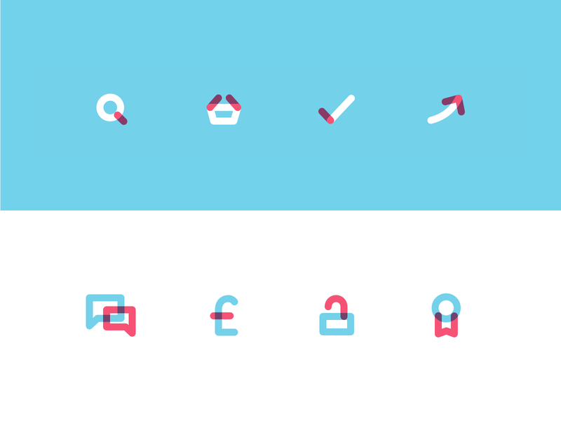 Overlapping colour icons colour icons flat icon design iconography icons