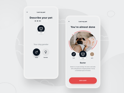 Mapet - Find Your Pet steps ui design minimal visual ux app sketch map mobile pets dog design concept stxnext ui