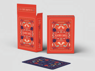 Typographic Playing Cards Box