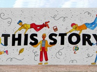 You Are Apart of this Story Mural Wall Mockup