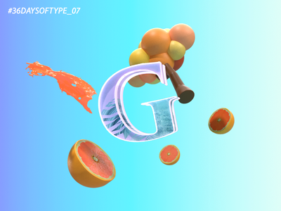 G for 36 Days of Type 36daysoftype-07 36daysoftype-g daily inspiration adobephotoshop typography type challenge lettering digital typedesign adobedimension 3d type type daily type daily challange 3d art foodandtype design 36daysoftype