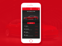 Daily UI 007 'Settings' - Tesla iOS