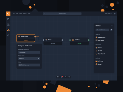 Node Editor - Web Design