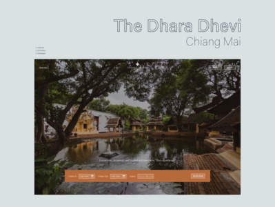 The Dhara Dhevi Chiang Mai | Website design