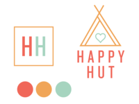 Happy Hut logo variations and colors