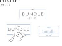 logo iterations for the bundle of joy