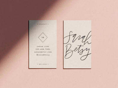 Sarah Betsy business cards
