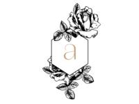 vintage floral logo