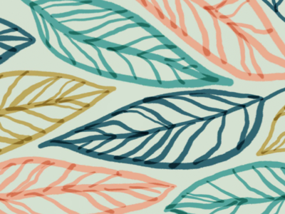 Painted Tropical inspired pattern colorful pattern illustrations tropical leaves tropical