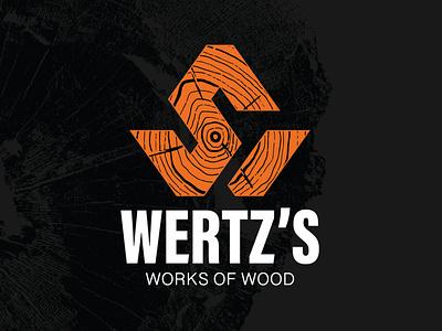 Wertz's Works of Wood Logo brandidentitydesign orange branding logos brandidentity logodesign logo wooddesign craftsman woodworkinglogo woodlogo woodworks woodtexture woodgrain wood woodworker woodshop woodworking
