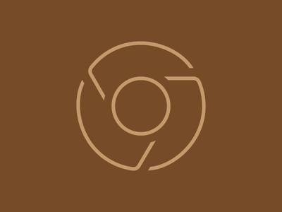 Chrome google chrome icon brown line