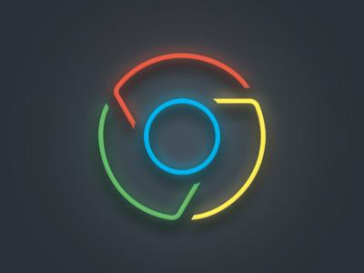 Chrome v2 google chrome icon color line concept cool logo internet
