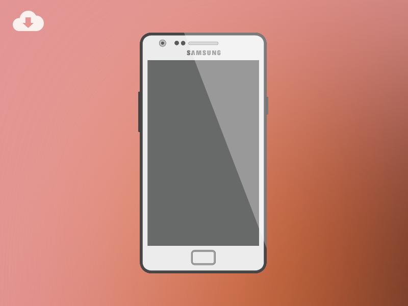 Freebie - Samsung Galaxy S II Mockup freebie mockup samsung galaxy android flat psd photoshop ai