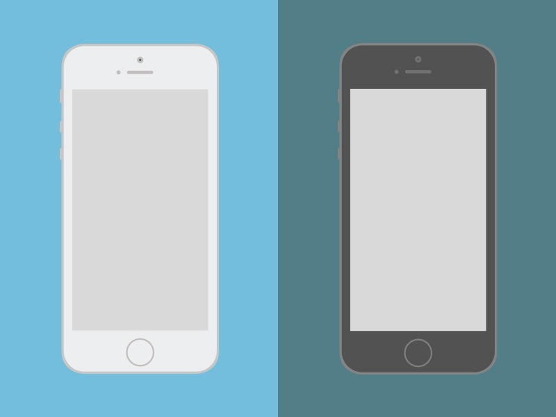 Iphone 5s iphone 5s mockup flat apple ai ps